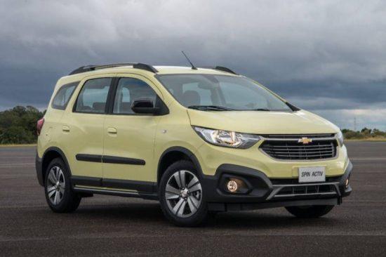 Novo Chevrolet Spin 2019 chega repaginado e com 7 lugares