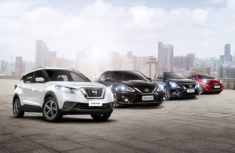 Nissan Kicks, Sentra, Versa e March