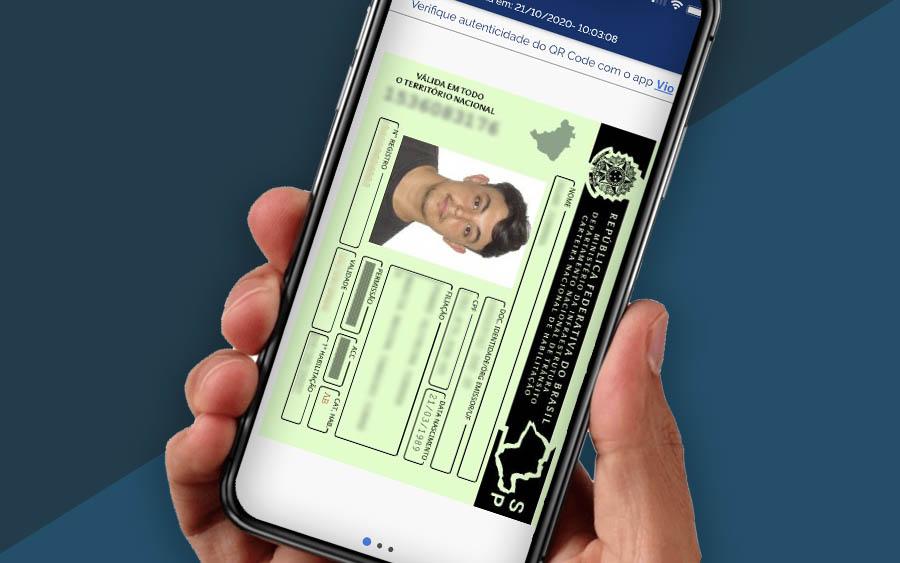 Com o aplicativo você tem o CRLV Digital (Certificado de registro e licenciamento de veículo) e a CNH Digital