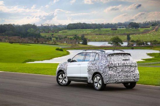 Testes do Volkswagen T-Cross no Brasil avalia rodagem nas estradas nacionais