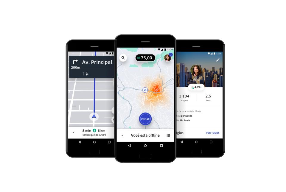 App motorista Uber