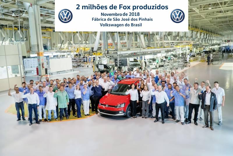 Volkswagen comemora a produção de 2 milhões de unidades do Fox no Brasil