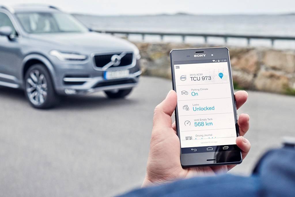 Volvo On Call também permite controlar o veículo pelo smartphone (Divulgação/Volvo)