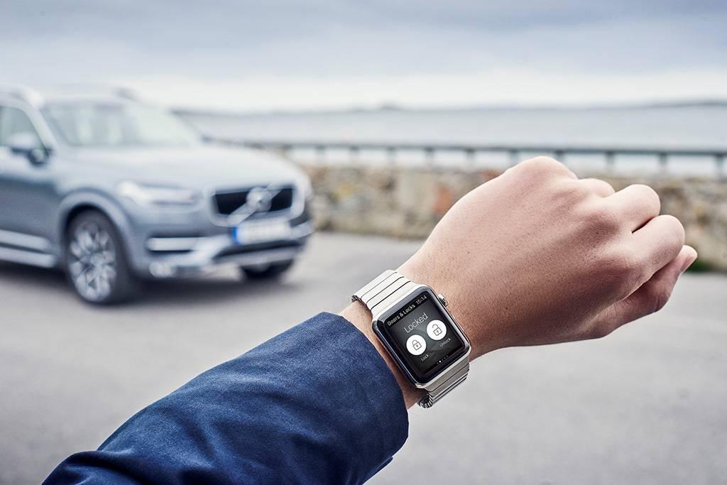 Aplicativo tem compatibilidade com smartwatch (Divulgação/Volvo)