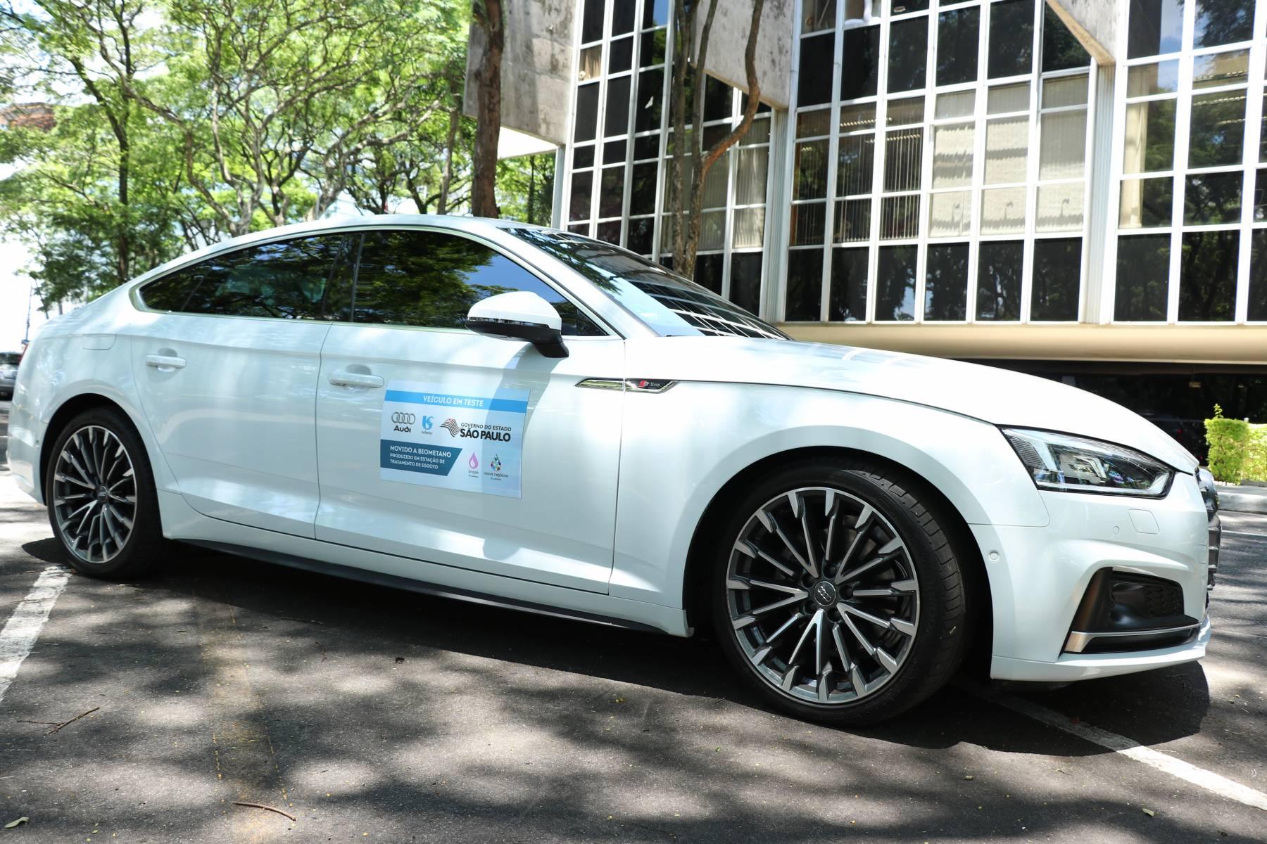 Sabesp testa desempenho de motor Audi com gás gerado no tratamento de esgoto