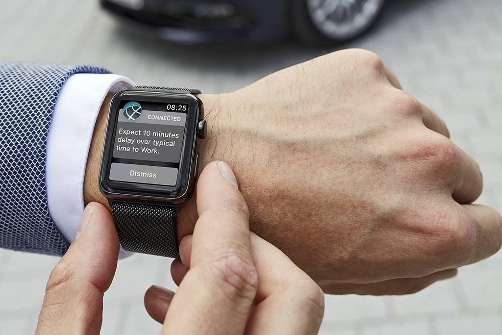 Controle do veículo também pode ser feito por smartwatch (Divulgação/BMW)