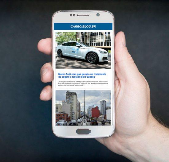 Aplicativo grátis traz notícias sobre carros no celular Android