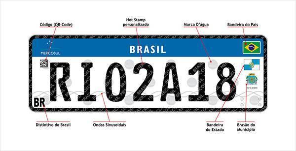 Nova placa de carros e motos no Brasil