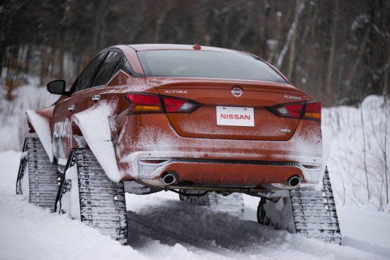 Vídeo: Projeto da Nissan traz carro especial para neve