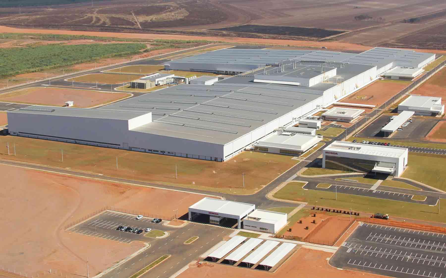 Fábrica da Honda em Itirapina, SP (foto: divulgação)
