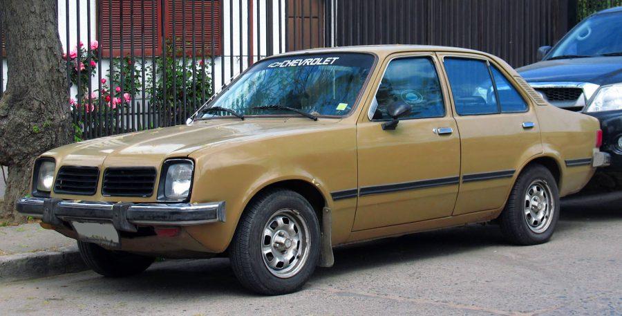 O sedan 4 portas do Chevette para exportação, na imagem vemos um exemplar do modelo de 1981 (Foto: Qwerty242 / Wikimedia)