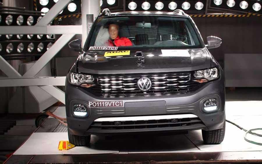 5 estrelas de segurança para o Volkswagen T-Cross no Latin NCAP