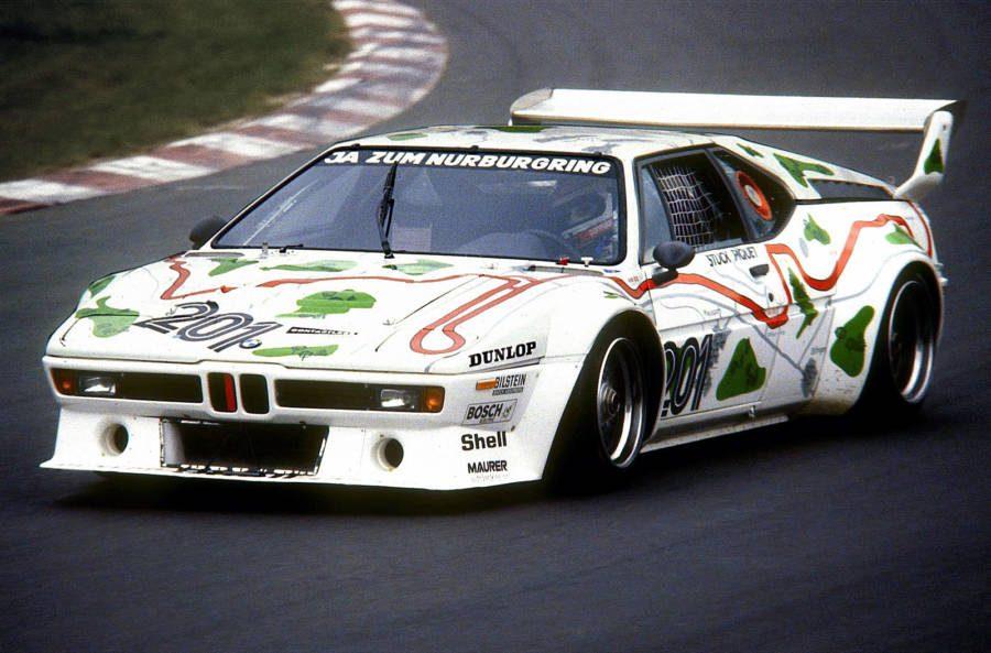 A BMW M1 Procar sendo conduzida por Nelson Piquet em 1980 em Nürburgring (foto: Lothar Spurzem / wikimedia)