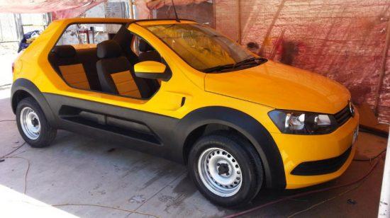 VW Gol vira buggy com estilo