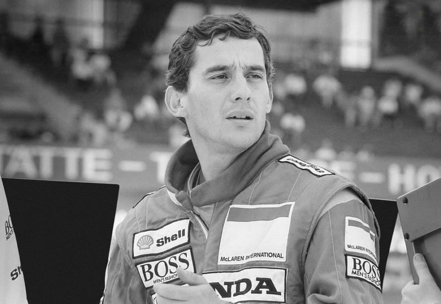 Senna fotografado durante a Temporada de Fórmula 1 de 1990 (foto: Instituto Ayrton Senna)