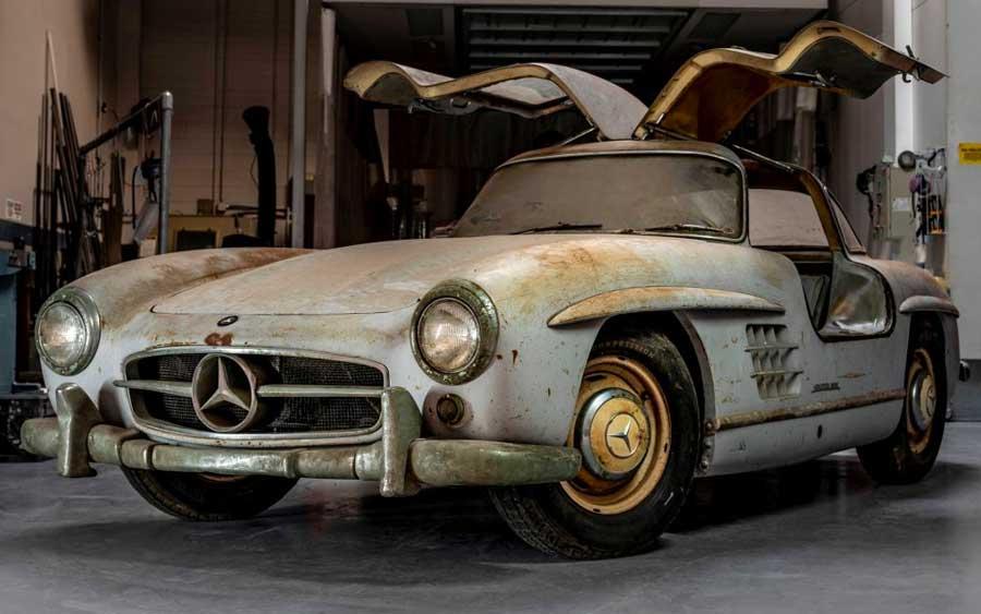 Esta Mercedes Asa de Gaivota restaurada é uma coisa linda para quem ama carros clássicos