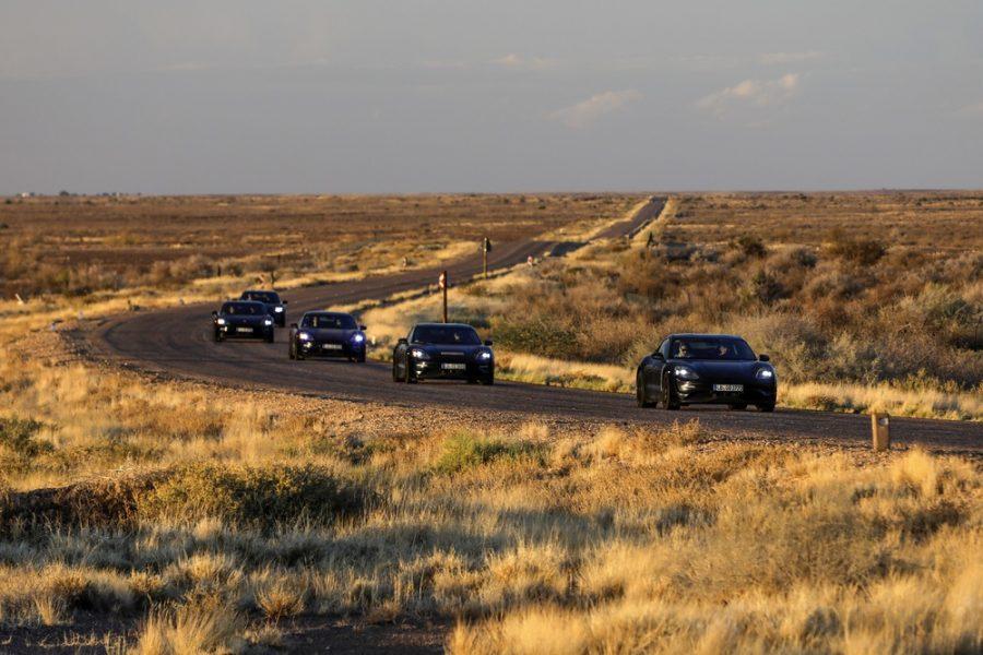 Porsche Taycan na Africa do Sul testanto em altas temperaturas