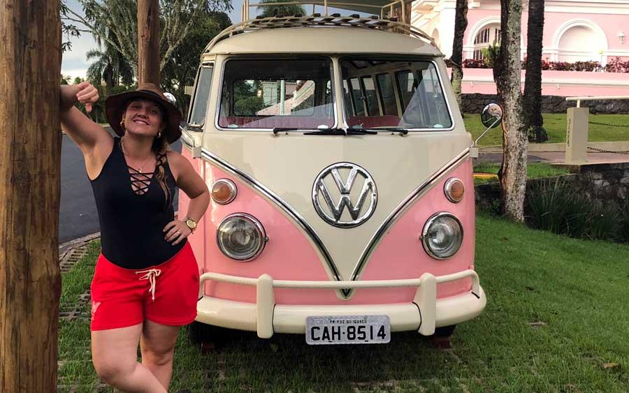 Kombi rosa no Hotel Belmond das Cataratas (foto: Alan Correa)