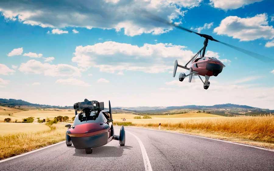 Lá fora: carros voadores serão entregues em 2020