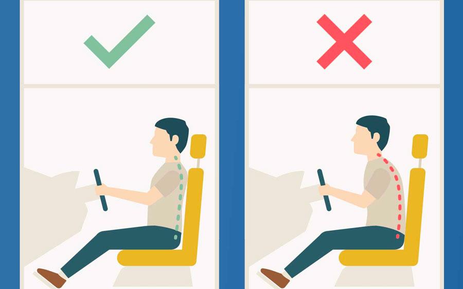 Conheça a posição correta para dirigir