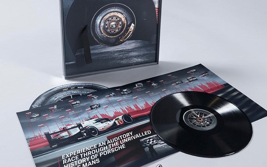 Porsche transforma pneu de carro vencedor de Le Mans em disco de vinil