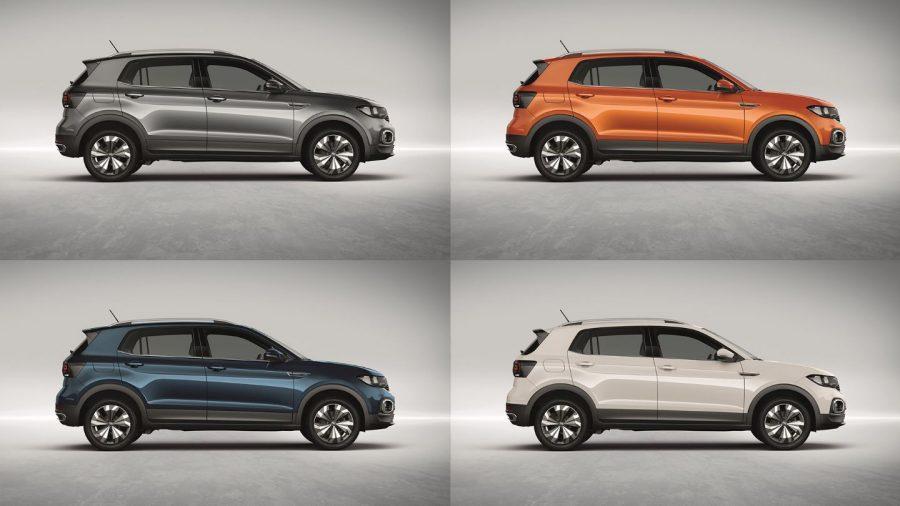 Quatro versões do Volkswagen T‑Cross
