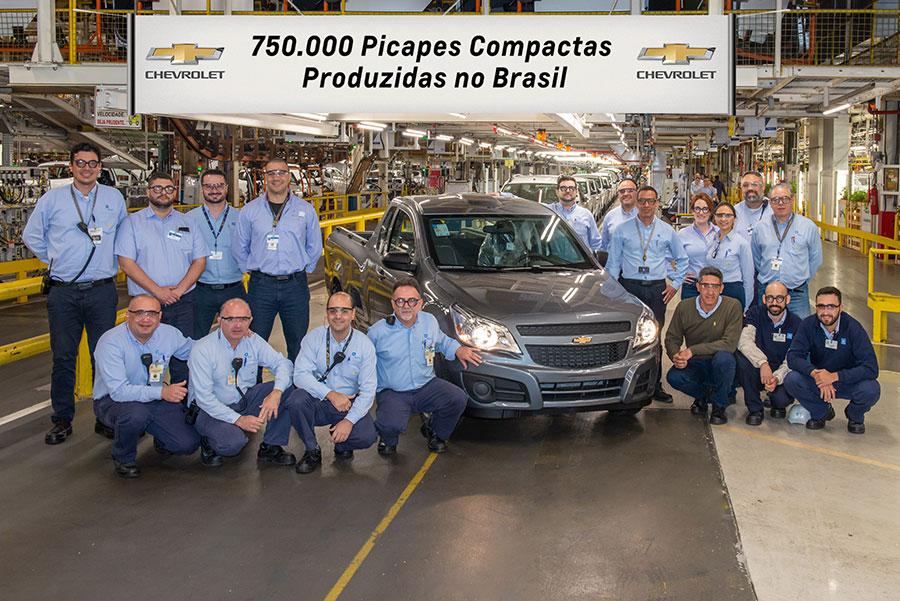 Montana é a picape compacta de número 750 mil da Chevrolet