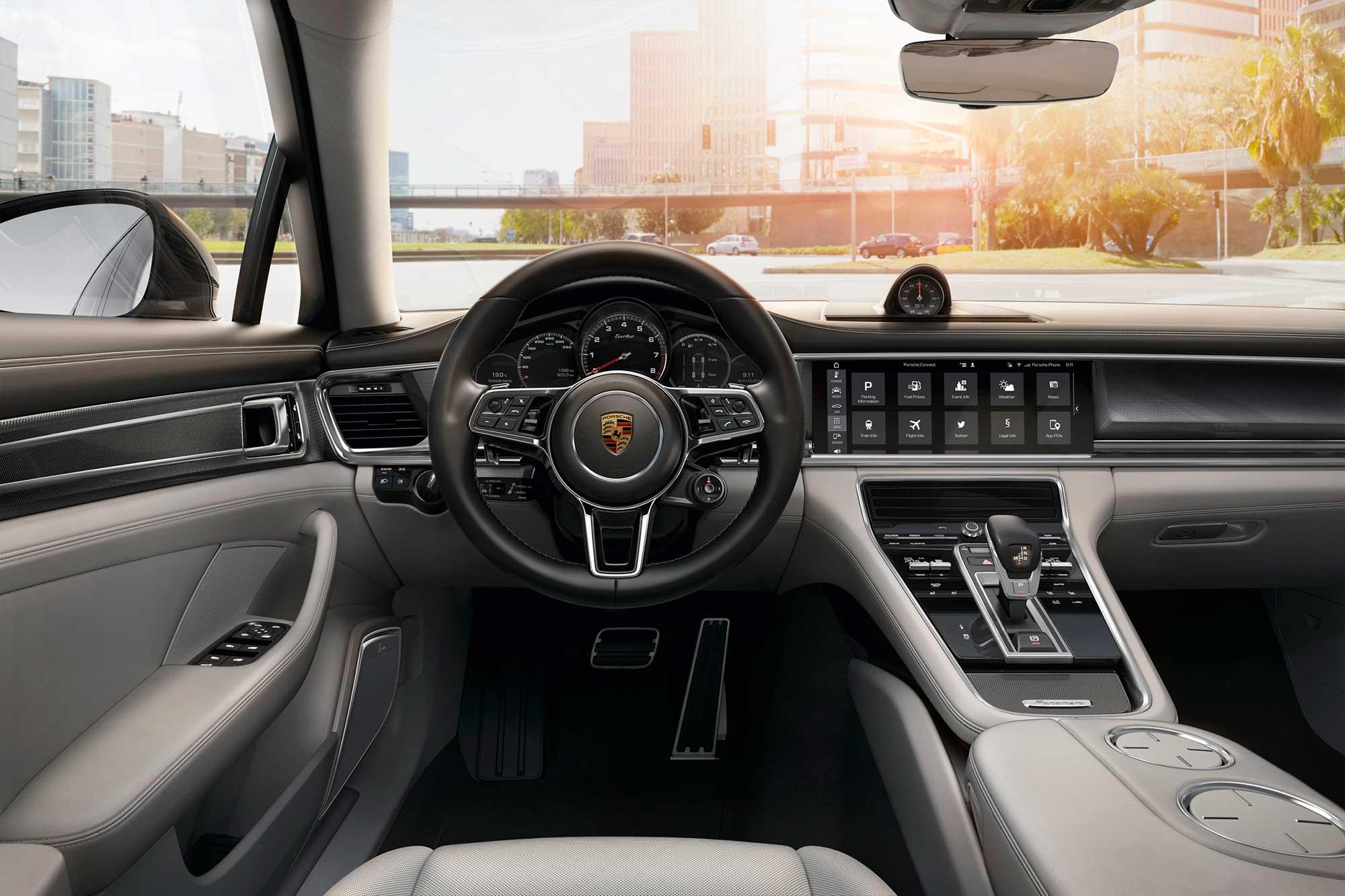 Interior do Porsche Panamera 4S