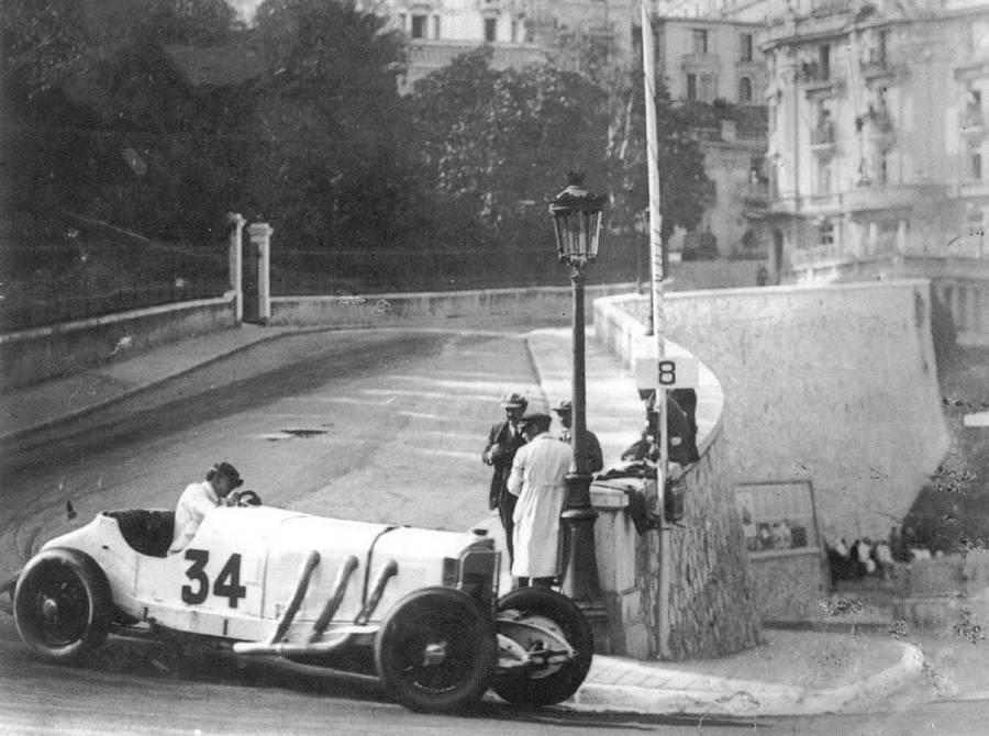 Rudolf Caracciola durante o GP de Mônaco de 1929 — Foto: Reprodução