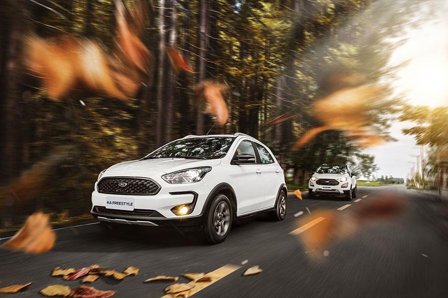 Ford apresenta as novas versões FreeStyle do Ka e do EcoSport com itens exclusivos