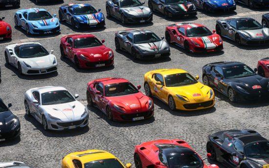 Evento reúne mais de 100 Ferraris de todo o mundo