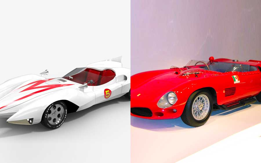 Carro do Speed Racer é inspirado no Ferrari 250 Testa Rossa