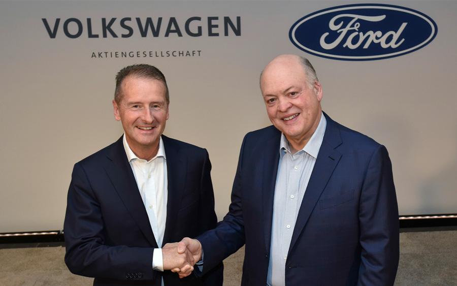Veículos autônomos e elétricos devem vir de aliança entre Ford e Volkswagen