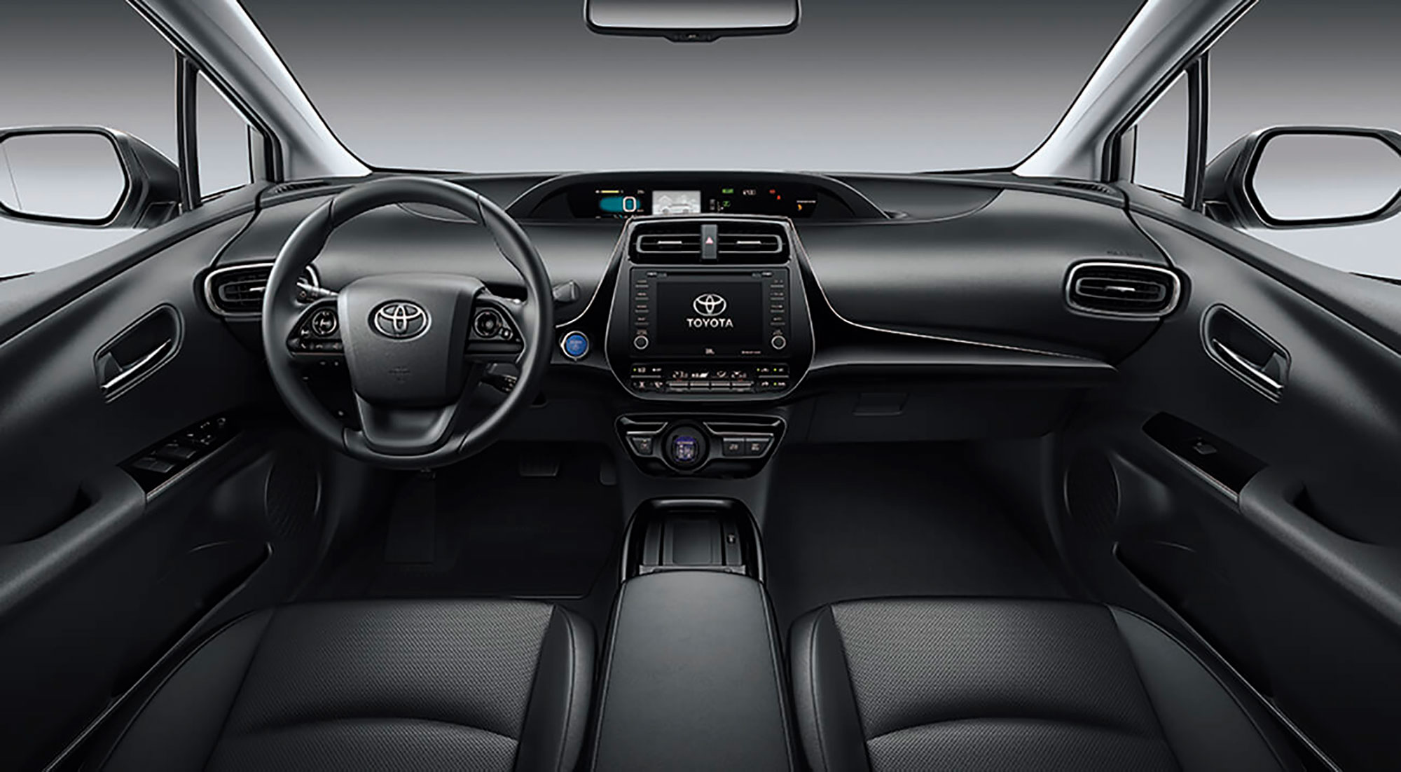 Toyota Prius 2019 - Acabamento em preto no painel