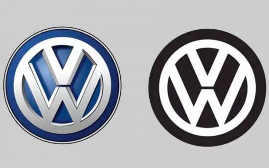 O novo logo da Volkswagen