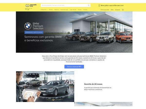 O Mercado Livre, maior plataforma de e-commerce e tecnologia financeira da América Latina, e o BMW Group Brasil estreiam uma parceria inédita para a venda de veículos online. A empresa de mobilidade premium é a primeira a ter uma loja oficial na seção de veículos do Mercado Livre, que inicia hoje sua atividade.