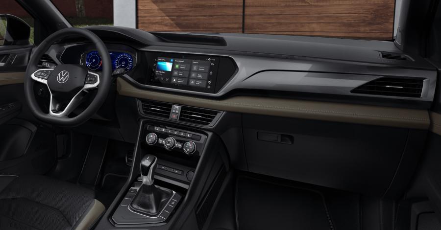 Interior do Volkswagen Taos