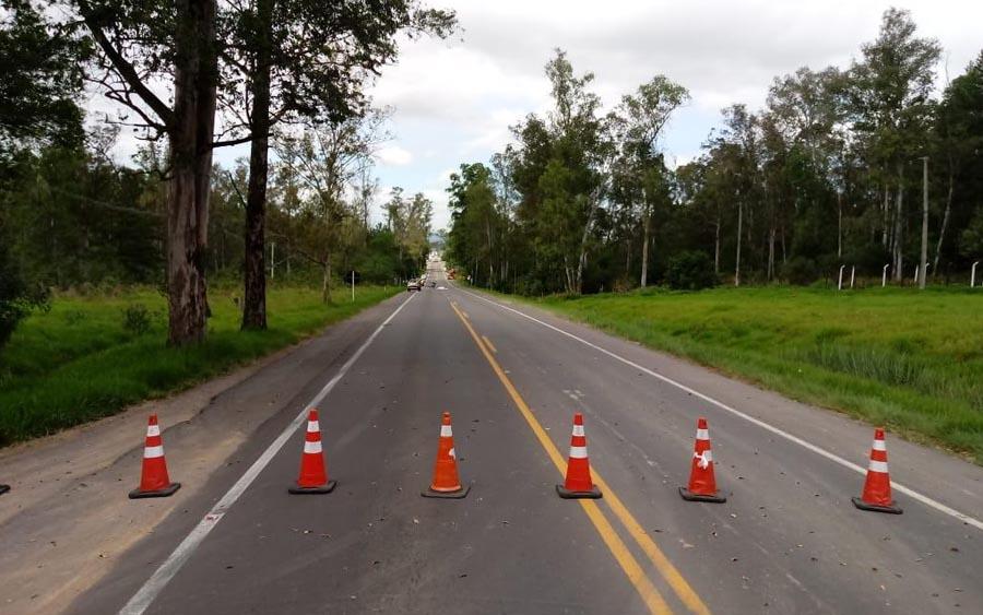 Acidente causou bloqueio nos dois sentidos da rodovia