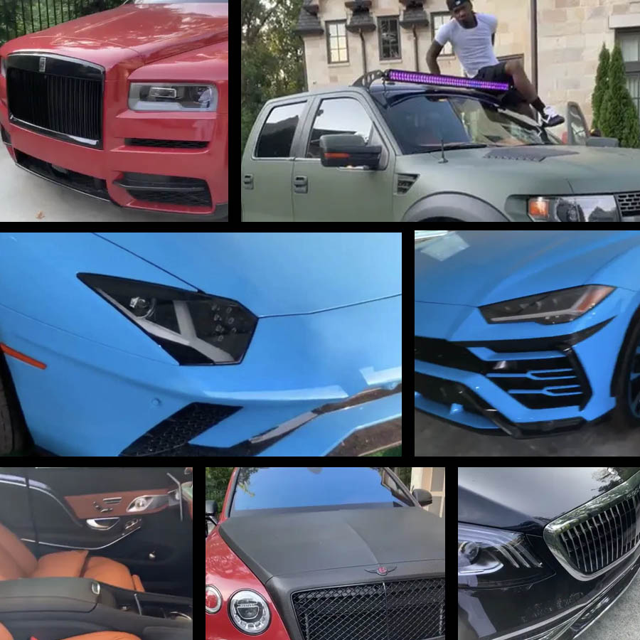 Alguns dos carros de Cardi B