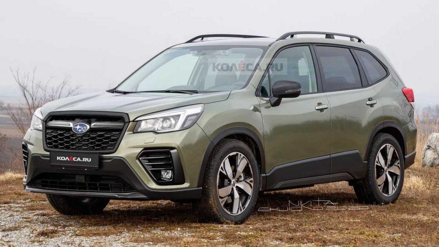 Projeção do novo Subaru Forester 2022
