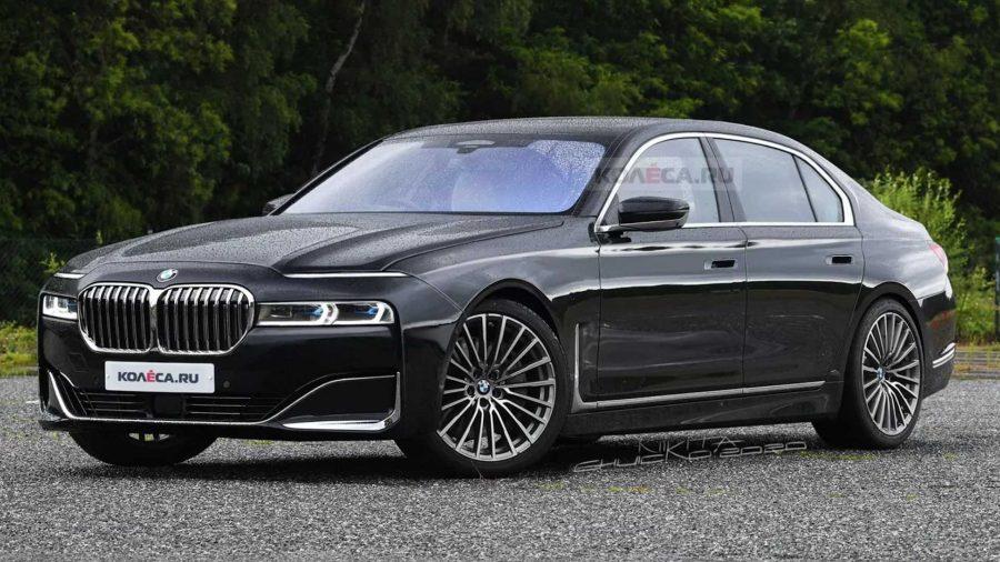 Projeção do novo BMW Série 7