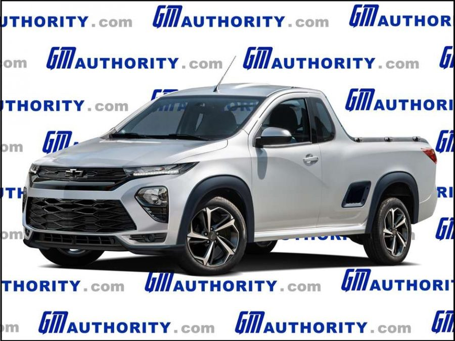 Projeção da nova Chevrolet Montana