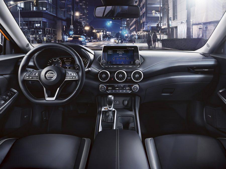 Interior do Nissan Sentra