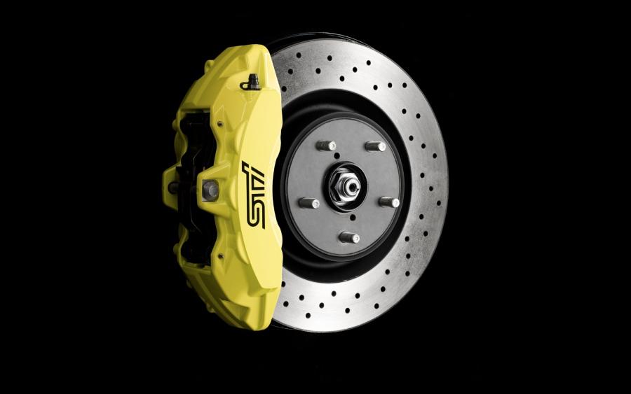 Subaru WRX STI - detalhe do freio (foto: divulgação)