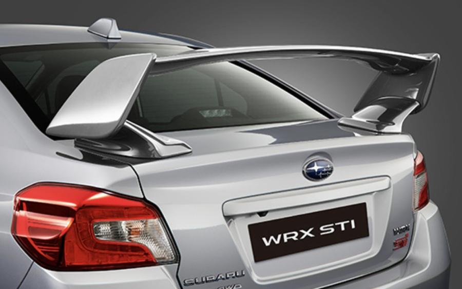 Subaru WRX STI - detalhe do aerofólio (foto: divulgação)