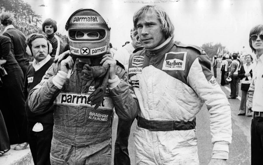 Niki Lauda e James Hunt em 1976