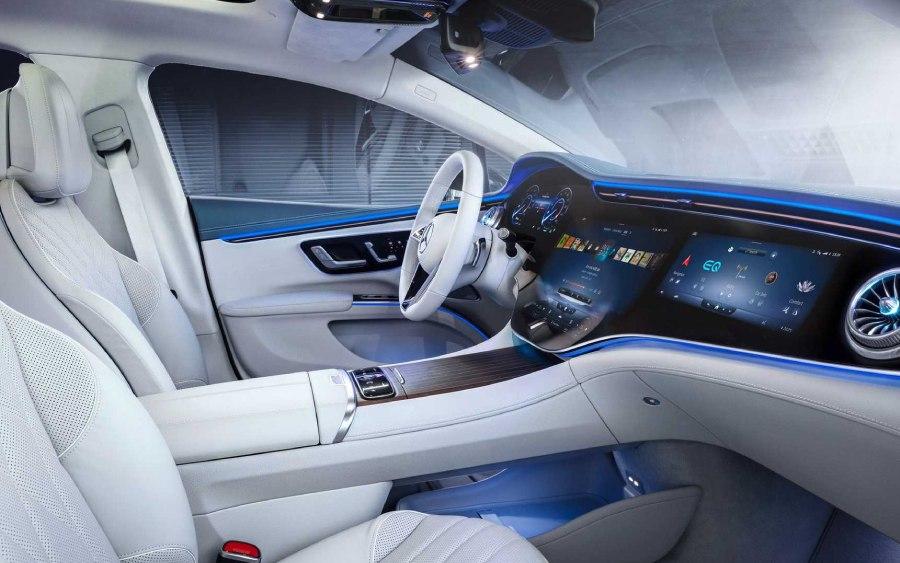 Mercedes EQS tem conforto incrível (foto: divulgação)