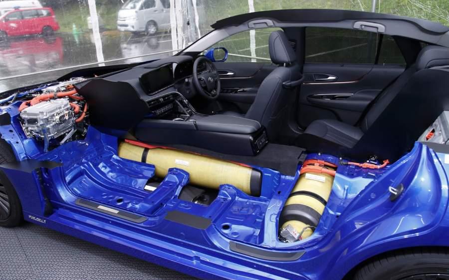 Toyota Mirai 2021 movido à hidrogênio é lançado (foto:divulgação)
