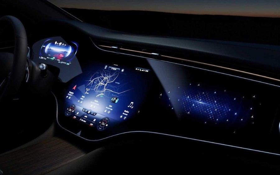 Mercedes EQS tem um processamento de gamer (foto: divulgação)