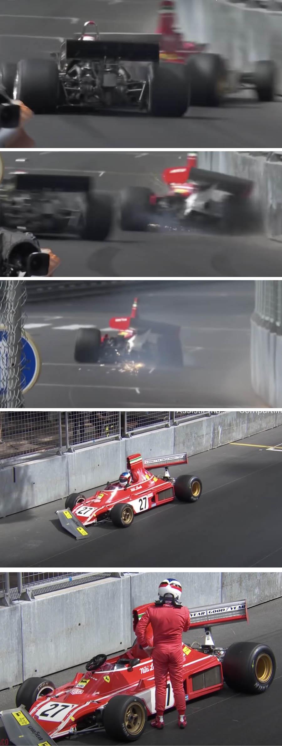 Alesi bate Ferrari histórica de R$ 30 milhões no muro em Mônaco